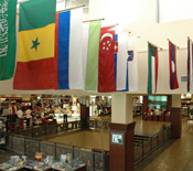 UA BookStore International Flag Display